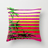bamboo Throw Pillows featuring Bamboo by Mr and Mrs Quirynen