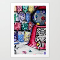 Candy Store Invastion Art Print