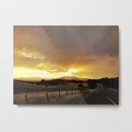 Hwy 49 Sunset Metal Print