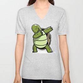Funny Dabbing Tortoise Pet Dab Dance Unisex V-Neck