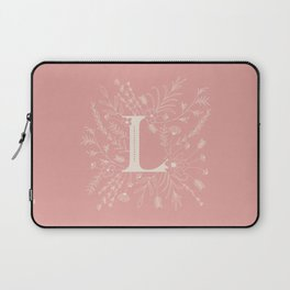 Botanical Letter L (Hibiscus Pink) Laptop Sleeve