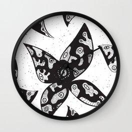 Alienated Petals Wall Clock