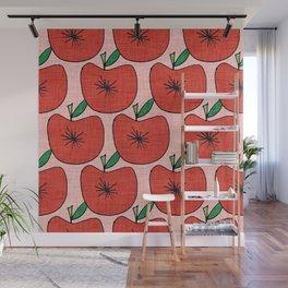 Pop Fruit Apple Pink Wall Mural