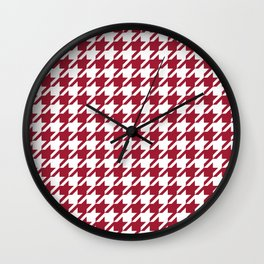 Bama crimson tide college state pattern print university of alabama varsity alumni gifts houndstooth Wall Clock