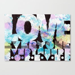 Love everyone print Canvas Print