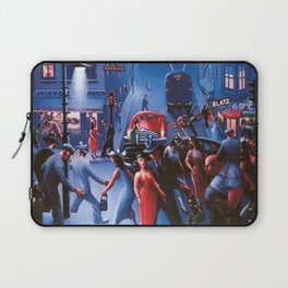 Bronzeville at Night by Archibald Motley Laptop Sleeve