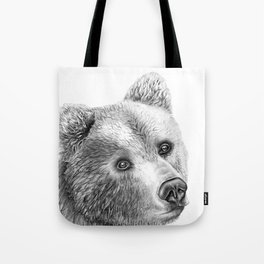 Shaggy Grizzly Bear Tote Bag