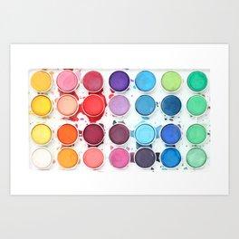 Messy Watercolors Art Print