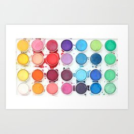 Messy Watercolors Art Print