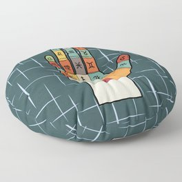 The Mid-Century Palm Reader Floor Pillow