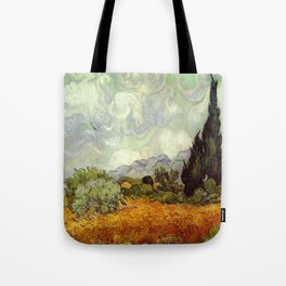 Vincent van Gogh's Wheat Field with Cypresses Tote Bag
