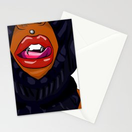 Ski mask lips Stationery Cards
