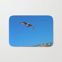 Seagull in Flight Bath Mat