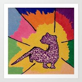 Ferret rocks, ferret passion Art Print