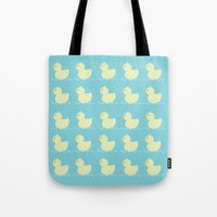 ducks Tote Bags featuring Ducks  by Art à la Mutuz
