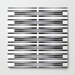 Silver Strip Pattern Metal Print