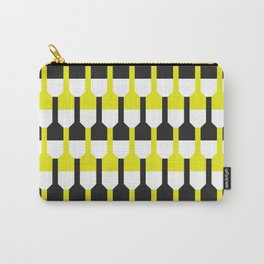 Geometric Pattern 253 (yellow and black bottles) Carry-All Pouch