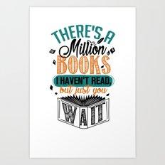 Million Books Art Print