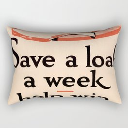 Save A Loaf A Week Rectangular Pillow