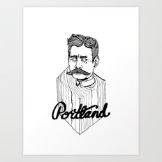 Ode to Portland II  Art Print
