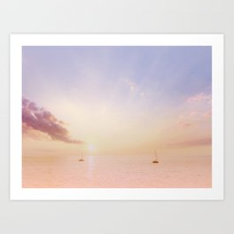 Sailing On The Seas Art Print