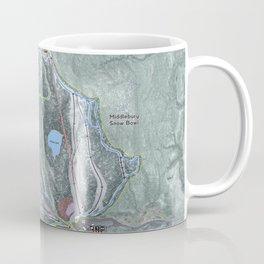 Middlebury Snow Bowl Resort Trail Map Coffee Mug