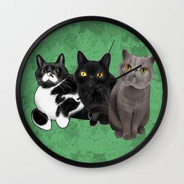 Poohkie, Mer, and Bart Wall Clock