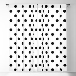 Classic Black & White Polka Dots Blackout Curtain