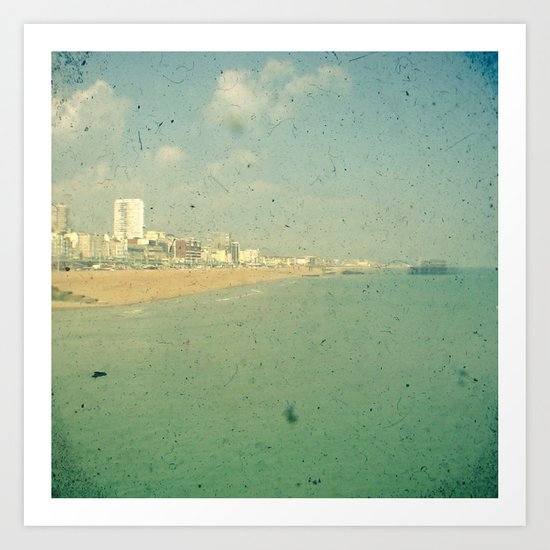 City by the Sea Art Print