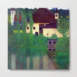 Gustav Klimt Unterach Manor Metal Print
