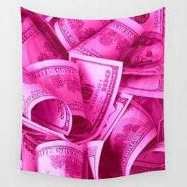 Pink Barbie Benjamins Wall Tapestry