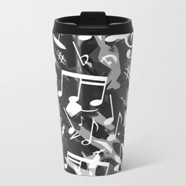 MUSIC NOTES  Metal Travel Mug