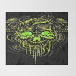 Glossy Yella Skeletons Throw Blanket