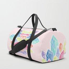 Crystals Pink Duffle Bag