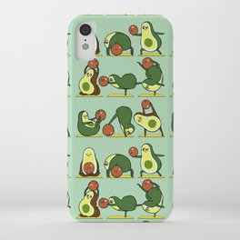 Avocado Yoga With The Seed iPhone Case