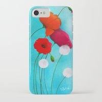 poppies iPhone & iPod Cases featuring Poppies by Sybile Art