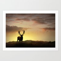 In the Setting Sun Art Print