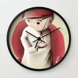 Jimmy and the sleeping pills nigthmare Wall Clock