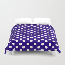 Polka Dot Party in Blue and White Duvet Cover