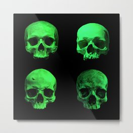 Skull quartet green Metal Print