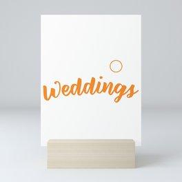 I Shoot Weddings Funny Wedding Photographer Mini Art Print