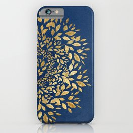 Gold Leaves Mandala iPhone Case