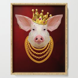 The King of Pigs Serving Tray