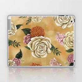 Gold luxury floral Laptop & iPad Skin