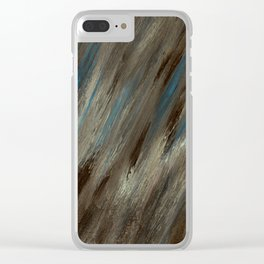 Closed Eye Mountain Landscape Clear iPhone Case
