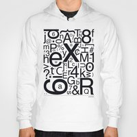 helvetica Hoodies featuring HELVETICA by Typography Photography™