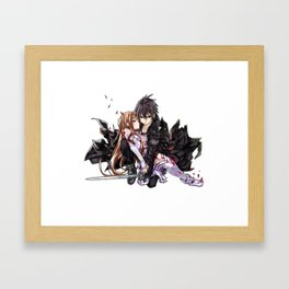 kirito and asuna in arms Framed Art Print