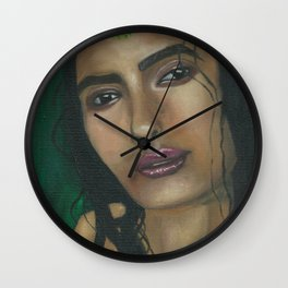 Lady in Green Wall Clock