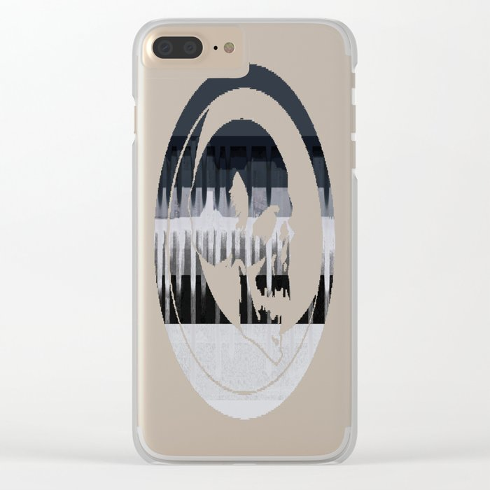 White Wash, Dark Alleys, Blue Wharf Clear iPhone Case
