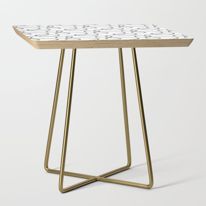 bicycle chain repeat pattern Side Table